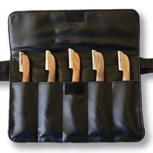 Aaronco Complete Set of Stripping Knives in Leather Case
