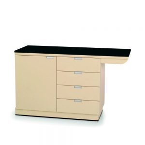 VetLine Exam Tables with Knee Space Cabinets w/Laminate Top