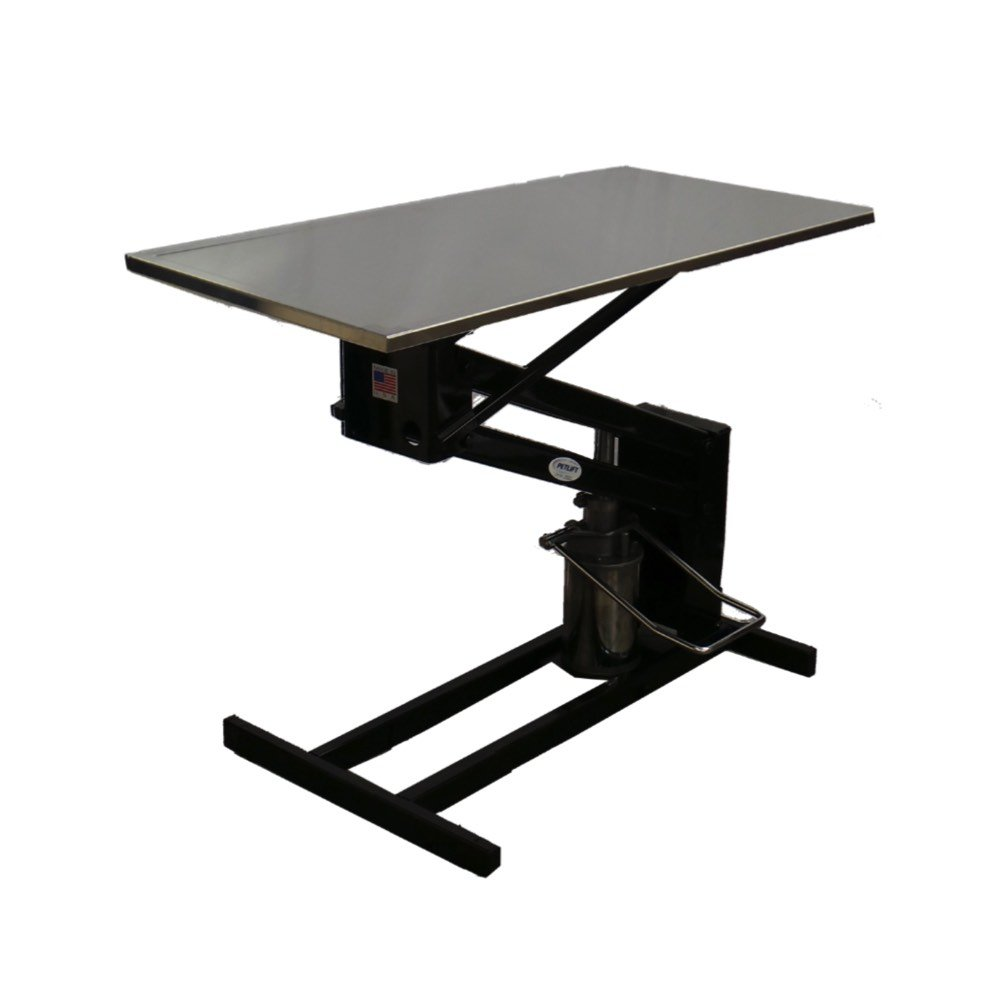 Hydraulic Work Tables : Vetline economy hydraulic exam table with stainless steel top