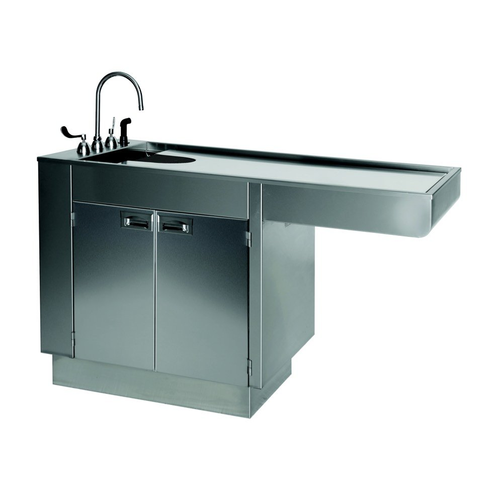 VetLift Stainless Steel 2 Cabinet Wet Table