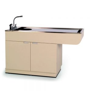 VetLine 60 Inch Cabinet Wet Table with Prep Rack